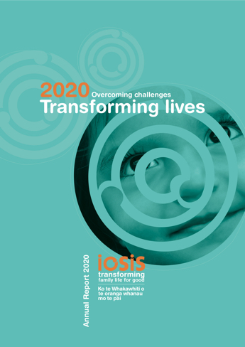 Iosis Annual Report 2020 - Front Cover