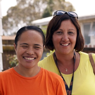 Eta with her Iosis support worker